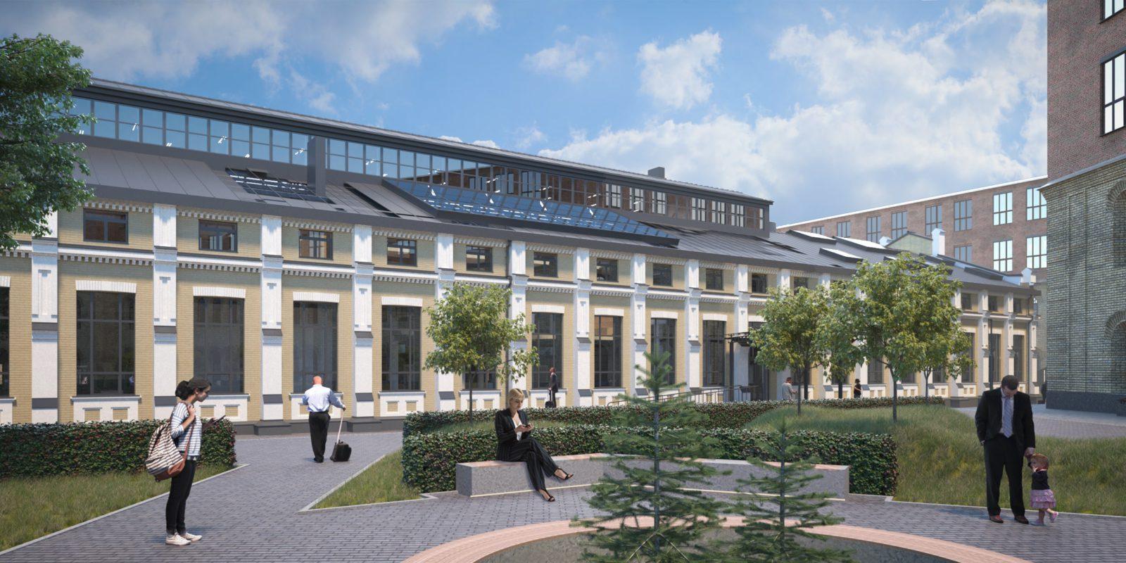 Стеклянный потолок и рестораны: на заводе «Арсенал» откроют бизнес-пространство