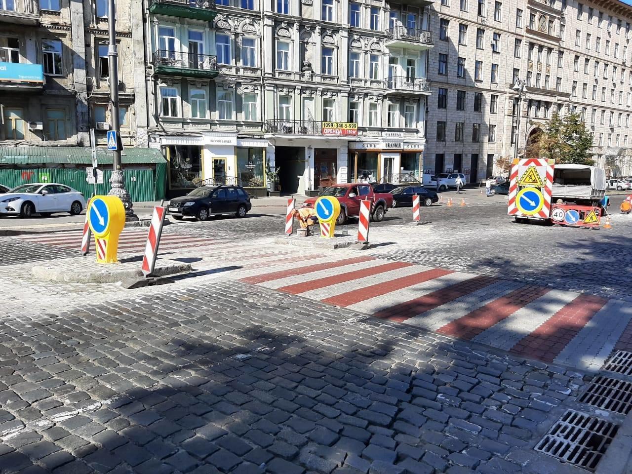 На Грушевского появится островок безопасности для пешеходов
