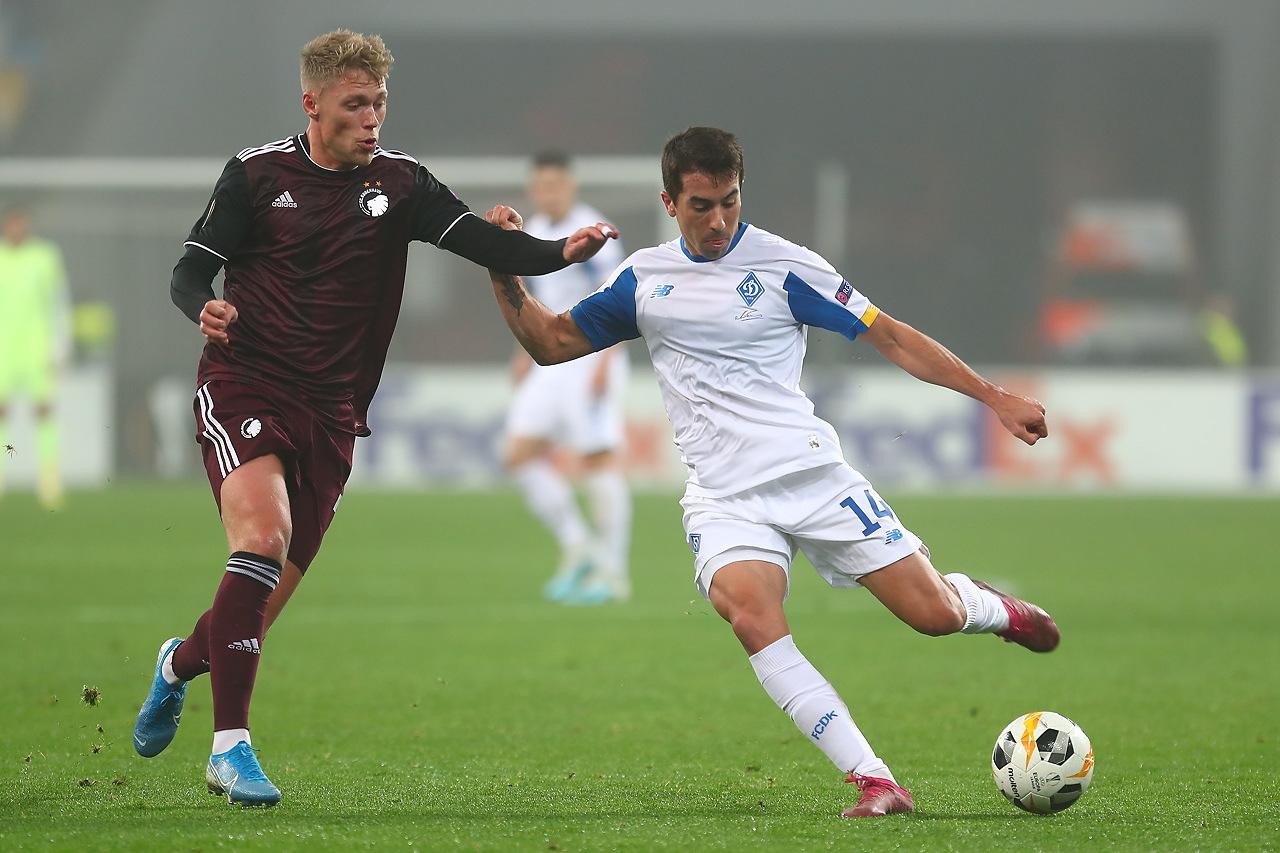 «Динамо» в Лиге Европы сыграло вничью с «Копенгагеном»