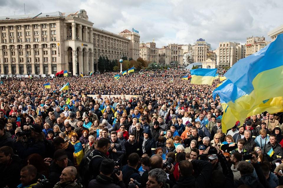 Как в Киеве прошло вече против реализации «формулы Штайнмайера»