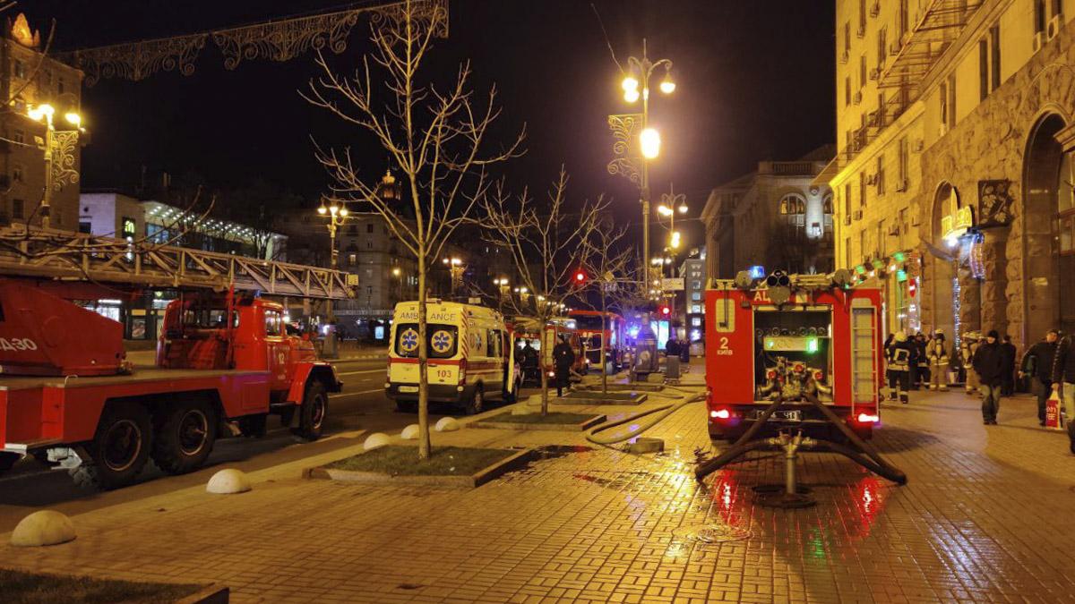 В центре столицы горел ресторан